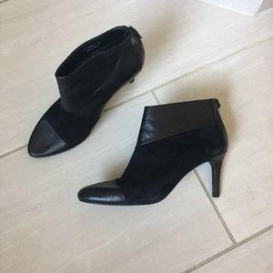 Cole Haan Black Winter Suede & leather booties 7.5